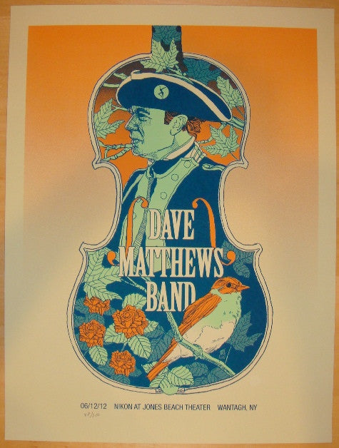2012 Dave Matthews Band - Wantagh I Concert Poster by Methane