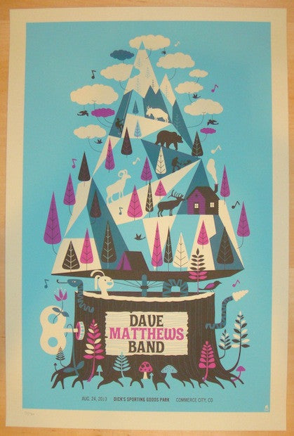 2013 Dave Matthews Band - Commerce City II Poster by Methane