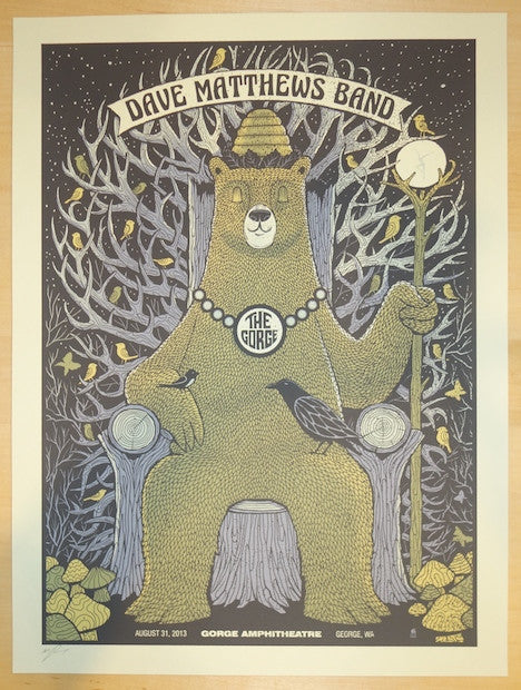 2013 Dave Matthews Band - Gorge II Concert Poster by Methane