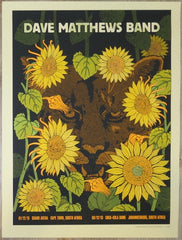 2013 Dave Matthews Band - South Africa II Silkscreen Concert Poster by Methane