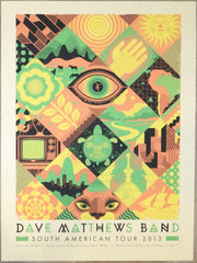 2013 Dave Matthews Band - South America Concert Poster by Graham Erwin