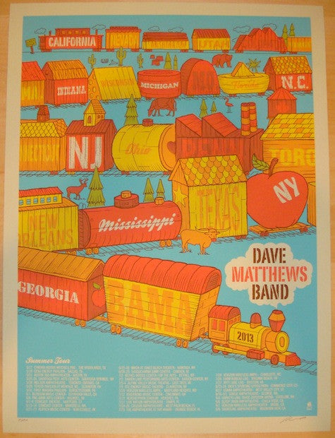 2013 Dave Matthews Band - Summer Tour Concert Poster by Methane