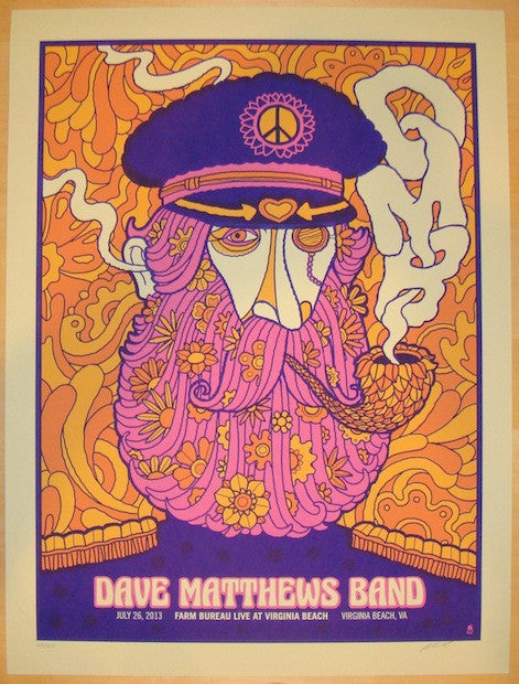 2013 Dave Matthews Band - Virginia Beach Poster by Methane