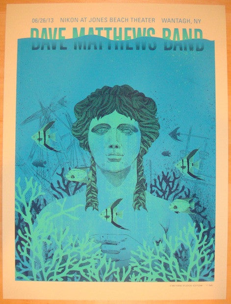 2013 Dave Matthews Band - Wantagh II Concert Poster by Methane