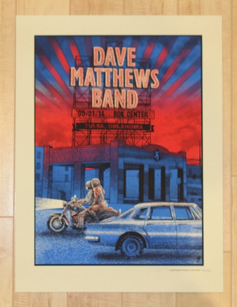 2014 Dave Matthews Band - Tulsa Concert Poster by Methane