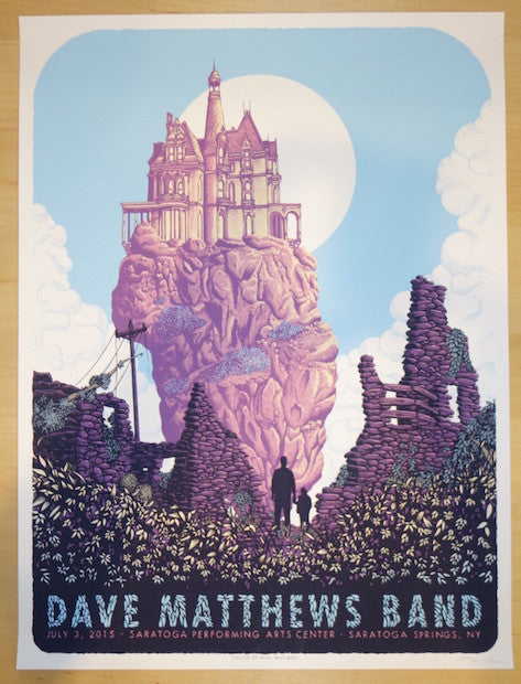 2015 Dave Matthews Band - SPAC I Silkscreen Concert Poster by Neal Williams