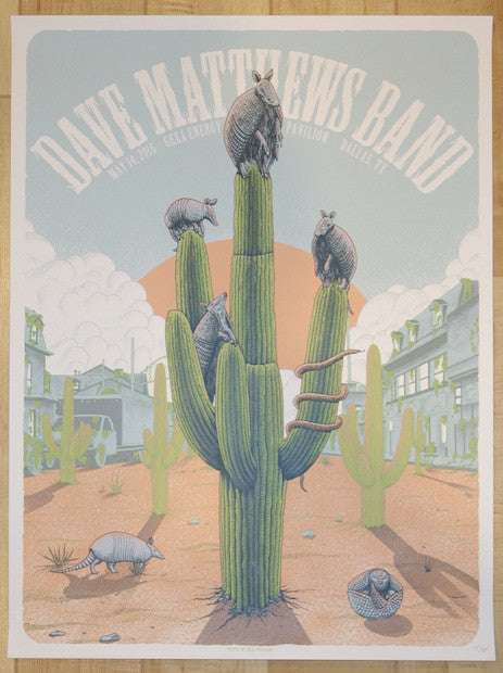 2016 Dave Matthews Band - Dallas Silkscreen Concert Poster by Neal Williams