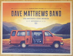 2016 Dave Matthews Band - Gorge Weekend Silkscreen Concert Poster by DKNG