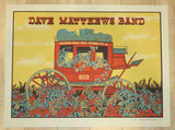 2016 Dave Matthews Band - Oklahoma City Silkscreen Concert Poster by Methane