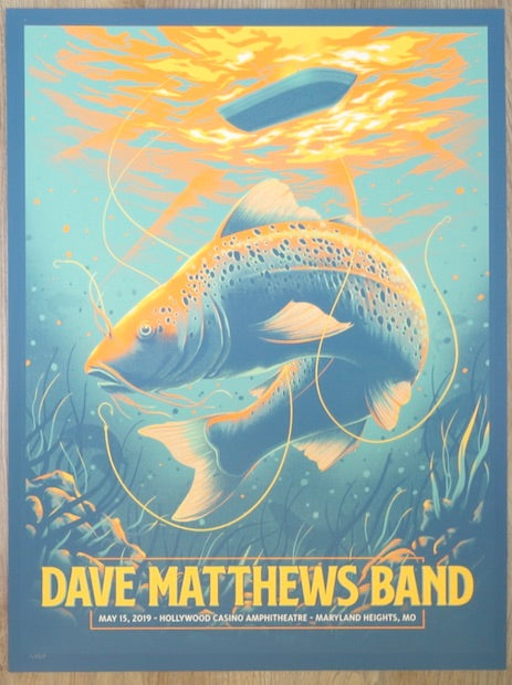 2019 Dave Matthews Band - Maryland Heights Silkscreen Concert Poster by Arno Kiss