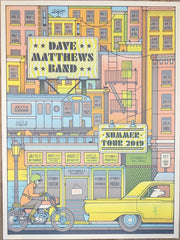 2019 Dave Matthews Band - Summer Tour Silkscreen Concert Poster by Half and Half