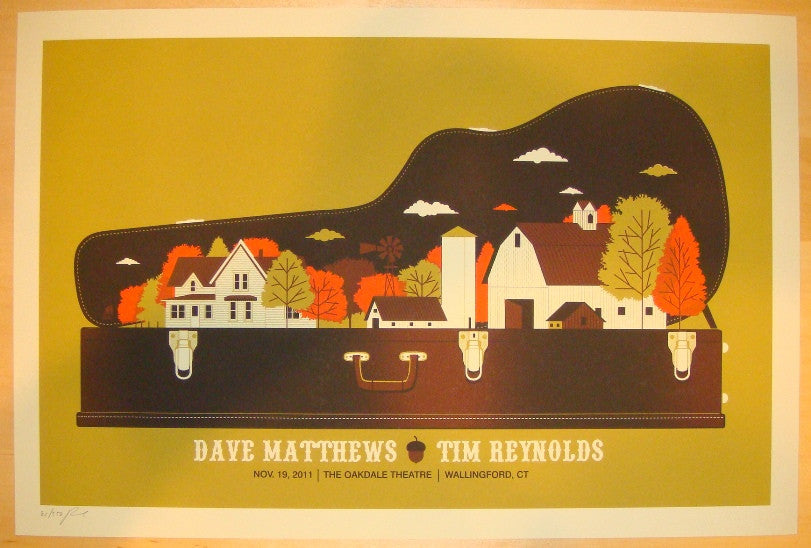 2011 Dave Matthews & Tim Reynolds Wallingford Poster by Methane