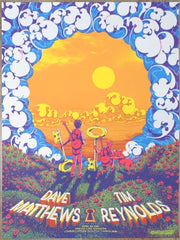 2019 Dave Matthews & Tim Reynolds - Charleston Concert Poster by James Flames