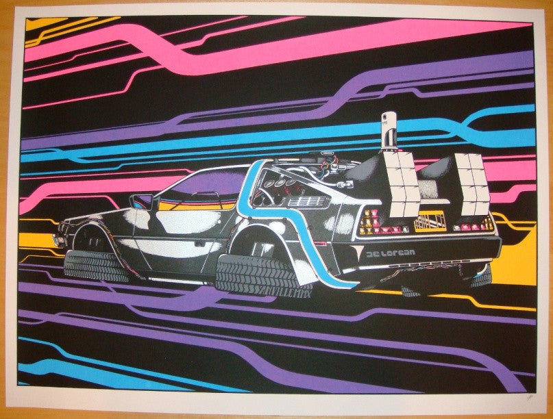 "2010 ""Back To The Future"" - Silkscreen Art Print by Anville"