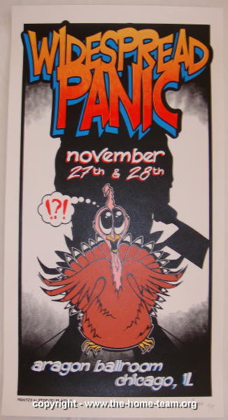 1998 Widespread Panic - Chicago Concert Poster - JT Lucchesi