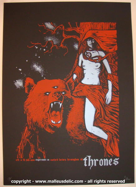 2008 The Thrones - Supersonic Festival Concert Poster by Malleus