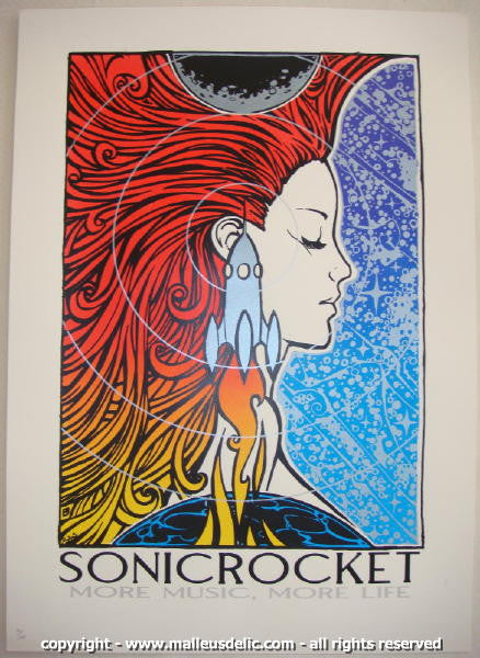2007 SonicRocket - Silkscreen Poster by Malleus