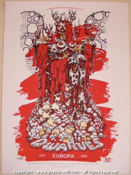 2007 The Dwarves Silkscreen Concert Poster by Guy Burwell