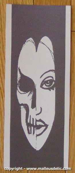 "2004 ""Skull Woman"" Silkscreen Handbill by Malleus"