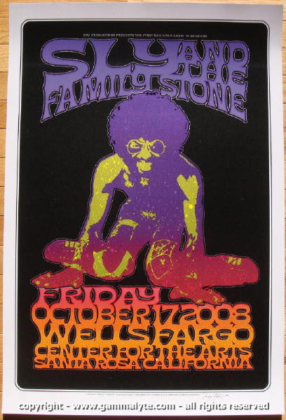2008 Sly & the Family Stone Concert Poster by Hunter & Firehouse