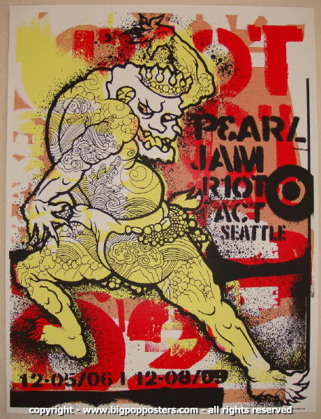 2002 Pearl Jam - Seattle I Silkscreen Concert Poster by Ames