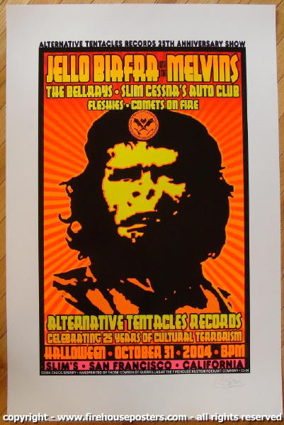 2004 Jello Biafra & The Melvins - Concert Poster by Chuck Sperry
