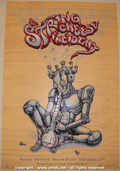 2004 String Cheese Incident Wood Variant Concert Poster by Emek