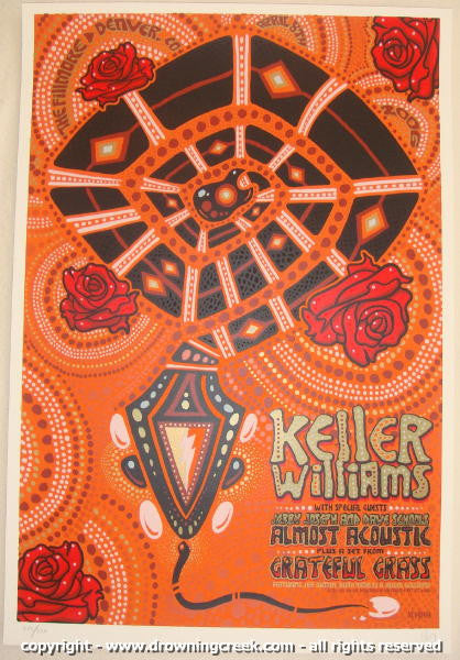 2006 Keller Williams - Silkscreen Concert Poster by Jeff Wood