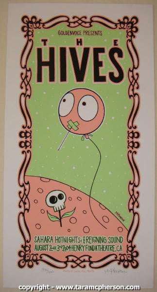 2004 The Hives - Silkscreen Concert Poster by Tara McPherson