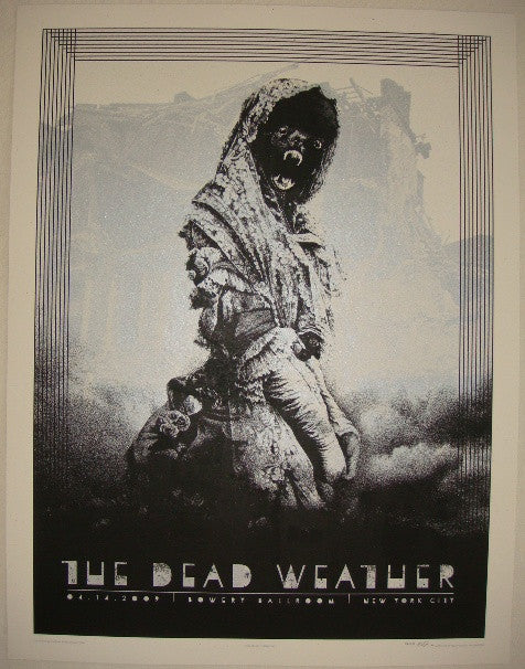 2009 The Dead Weather - NYC I Concert Poster by Rob Jones
