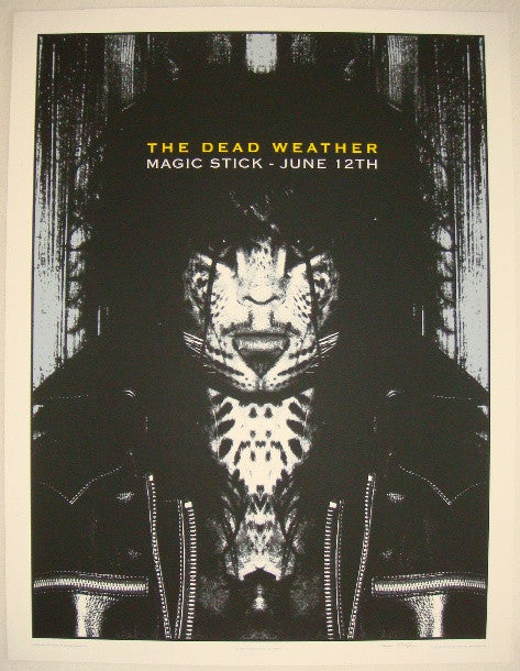 2009 The Dead Weather - Detroit I Concert Poster by Rob Jones