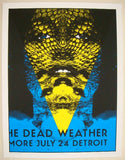 2009 The Dead Weather - Detroit II Concert Poster by Rob Jones