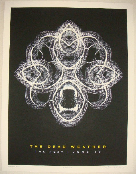 2009 The Dead Weather - Hollywood Concert Poster by Rob Jones