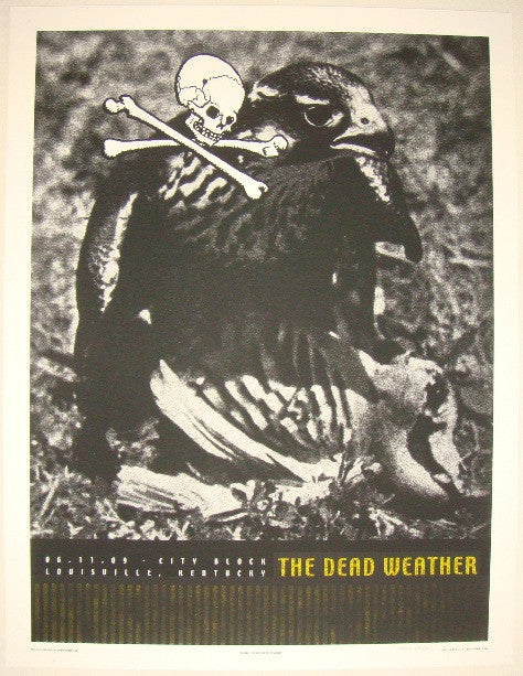 2009 The Dead Weather - Louisville Concert Poster by Rob Jones