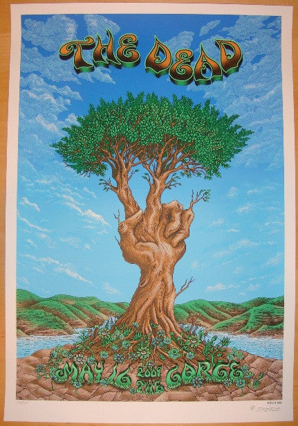 2009 The Dead - Gorge Silkscreen Concert Poster by Emek