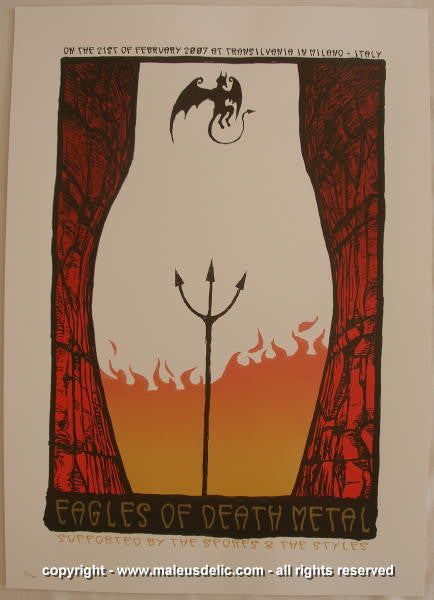 2007 Eagles of Death Metal Silkscreen Concert Poster by Malleus