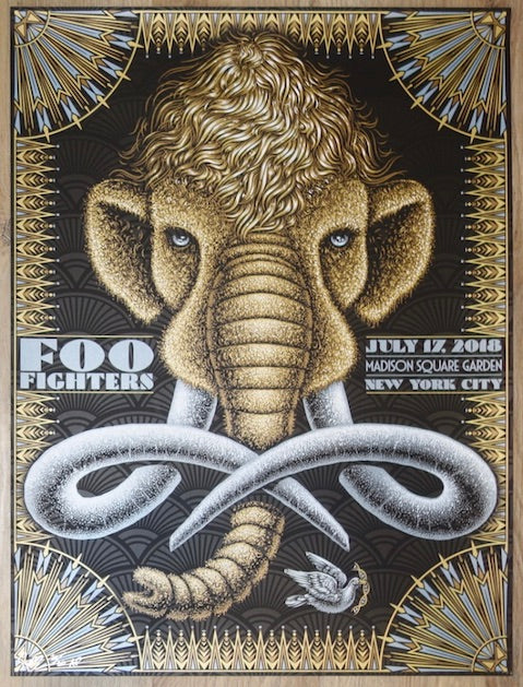 2018 Foo Fighters - NYC Silkscreen Concert Poster by Todd Slater