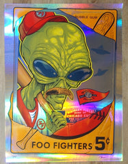 2018 Foo Fighters - Chicago II Foil Variant Concert Poster by Zombie Yeti