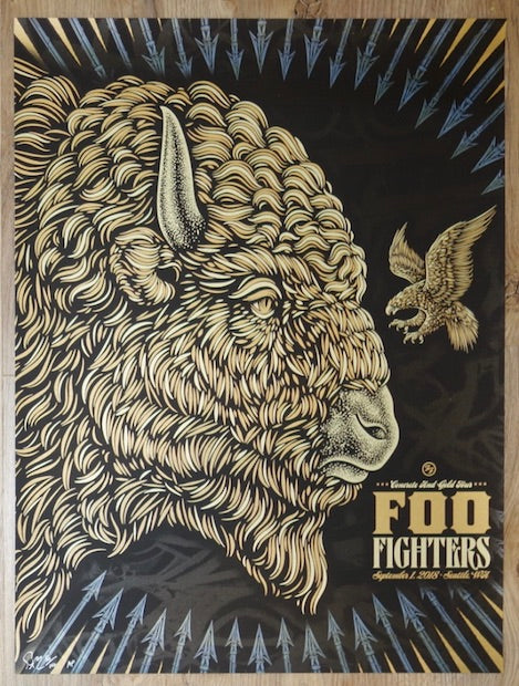 2018 Foo Fighters - Seattle Silkscreen Concert Poster by Todd Slater