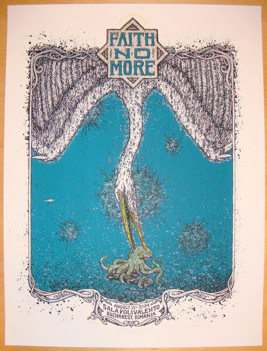 2009 Faith No More - Bucharest Concert Poster by Marq Spusta