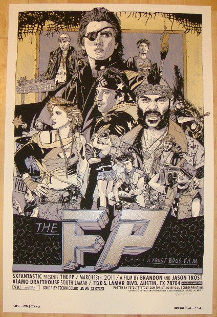 "2011 ""The FP"" - Variant Silkscreen Movie Poster by Tyler Stout"