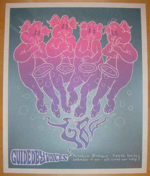 2010 Guided By Voices - Silver Variant Poster by Todd Slater