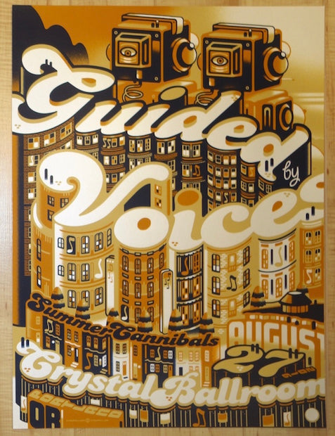 2016 Guided By Voices - Portland Silkscreen Concert Poster by Guy Burwell