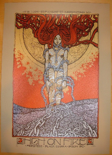 2010 High on Fire - Morgantown Concert Poster by Malleus