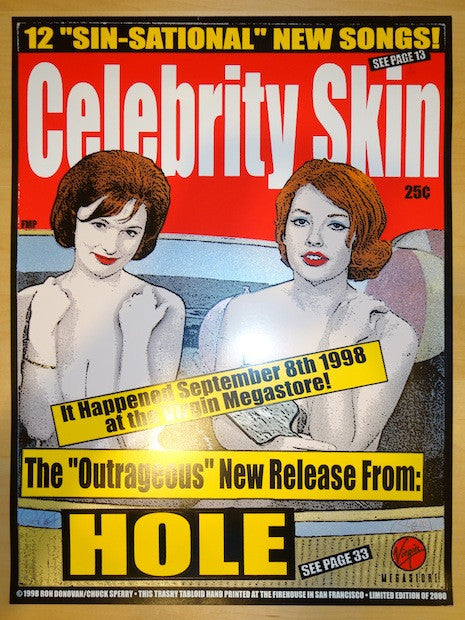 1998 Hole - Celebrity Skin Release Poster by Sperry/Donovan