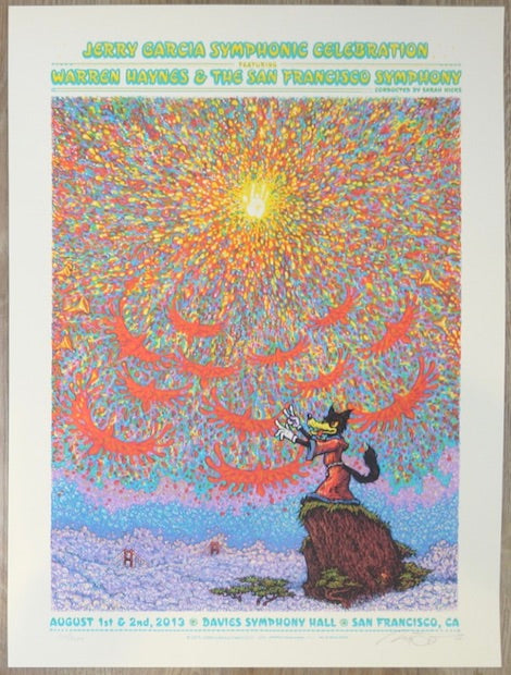 2013 Jerry Garcia Symphonic Celebration - San Francisco Concert Poster by Marq Spusta