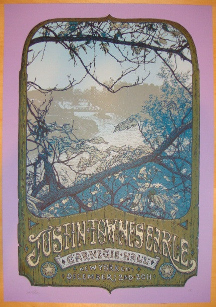 2011 Justin Townes Earle - NYC Concert Poster by David Welker