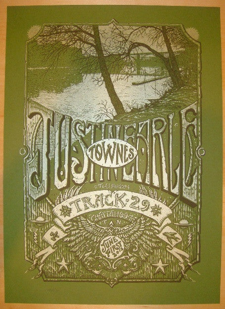 2012 Justin Townes Earle - Chattanooga Concert Poster by Welker
