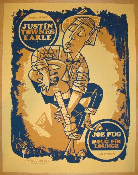 2010 Justin Townes Earle - Concert Poster by Guy Burwell