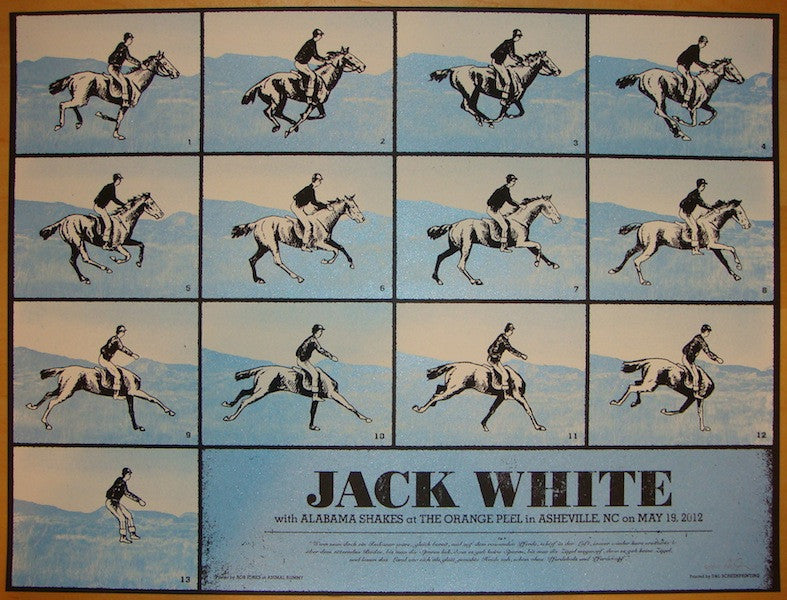 2012 Jack White - Asheville Concert Poster by Rob Jones